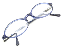 Moschino M3562 Oval Spectacles In Navy Acrylic