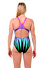 Ladies Sport Back one piece swimsuit - back view