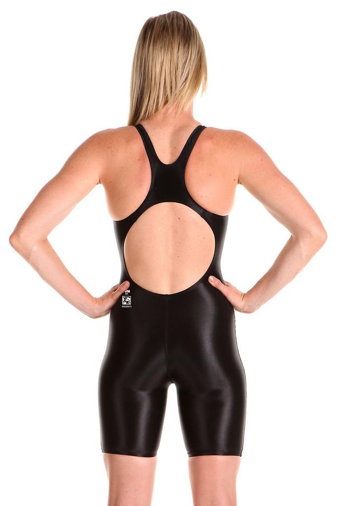 Ladies black training swimsuit - training