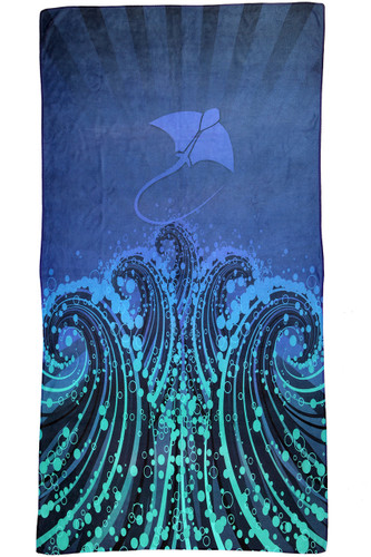 Quick Dry Micro Fibre Towel - Stingray