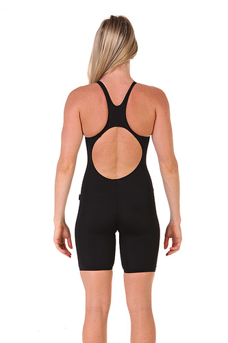 Female Knee length Black back view