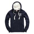 Ultra Premium Zipped Hoodie – Washed Dark French Navy