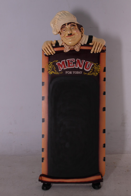 """Standing Chef with Chalkboard 60"""" Tall"""