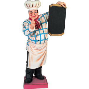 "75""H Baker With Menu Board Novelty Collectable Restaurant Kitchen Décor"