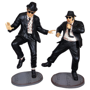 Blues Buddies Pair 6Ft Fiberglass Statue Novelty Collectable Decor