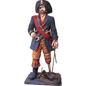 "75""H Lifesize Peg Leg Pirate  Statue Fiberglass Novelty Collectable Decor"