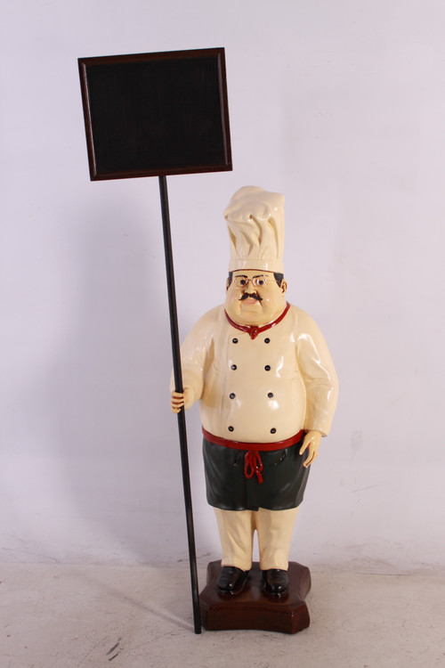 Cook with Chalkboard 4' Tall