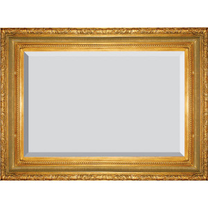 Large Ribbed Foliate Frame 24X48 Antique Gold