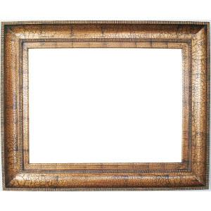 Magna Marco Frame 24X36 Black Crackle Over Gold