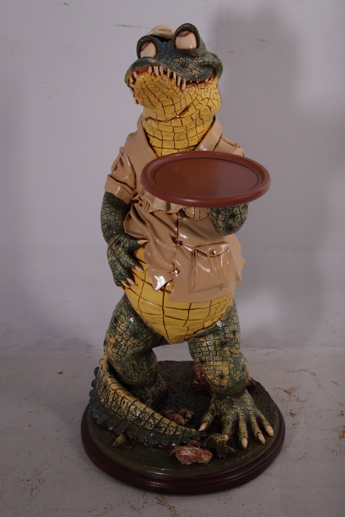 "Crocodile Butler with Tray 39"""