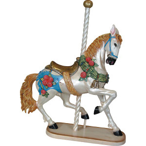 "55.5""H Prancing Carousel Horse Fiberglass Novelty Collectable Decor"