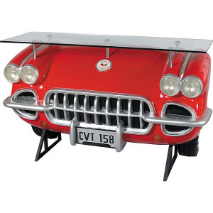 "41""H Corvette Red Car Automobile Bar Novelty Collectable Decor"