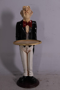 Uppity Connoisseur Butler with Tray 37 Inch Tall
