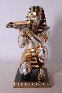 Kneeling King Tut with Tray Table