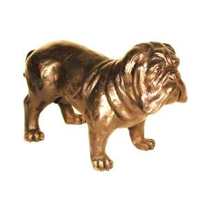Standing Bull Dog - Bronze