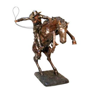 Large Bronco Buster - Bronze