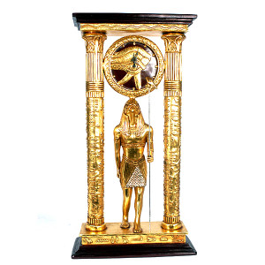 "38""H Horus Statue Egypt Clock Novelty Collectable Decor"