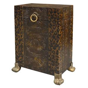 Leopard Print Side Trunk Table
