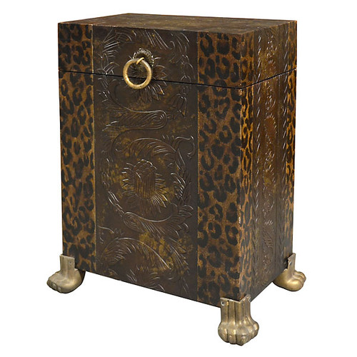 Leopard Print Side Trunk Table World Of Decor