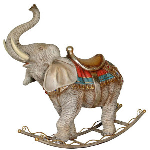 "45""H Rocking Elephant Statue Novelty Collectable Decor"