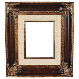 Classic Crest Frame 30X30 Wood Tone with Linen Liner
