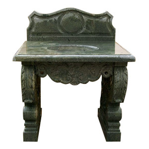 Carved Green Marble Vanity Sink