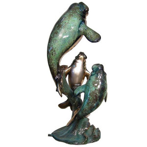 Manatee Fountain (Special Patina)