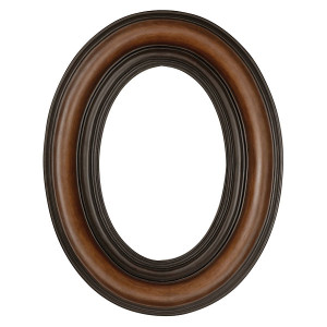 Grand Oval Reserve Frame 24X36 Dark Wood Tone