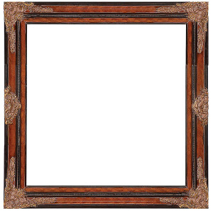 Black Burl and Gold Frame 40X40