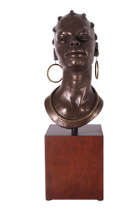 African Queen Bust on Stand