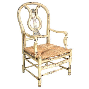 Lyre Armchair - Parchment