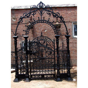 Fancy Promenade Gate Handmade Iron Gate for Driveway Entry