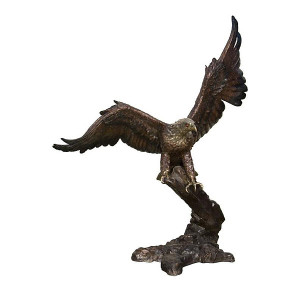 Eagle Flying-Ant Patina/Silver - Bronze