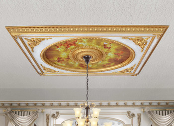Neo Classical Design Rectangular Ceiling Medallion 6 Ft X 8 Ft