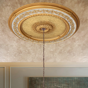 Golden Dream Round Chandelier Ceiling Medallion