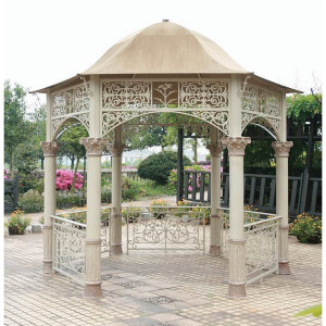 Turnberry Gazebo in Aluminum Ecru Garden Element