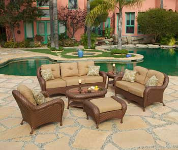 Villanova Woven Outdoor 6 Piece Seating Set (KIT)