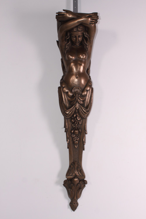 Lady Pilaster Bronzed Finish 59 Inch