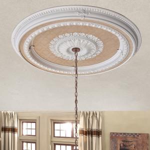 Blanco Round Chandelier Ceiling Medallion 47 Inch