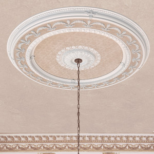 Blanco Wreath Round Chandelier Ceiling Medallion