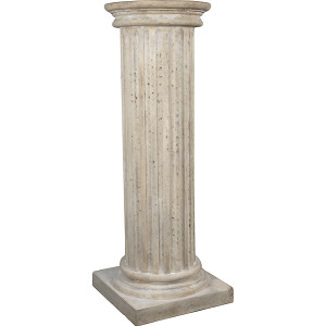 Fluted Column 4ft Faux Stone Decoration