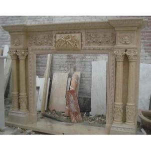 Beige Marble Mantle (45x44)