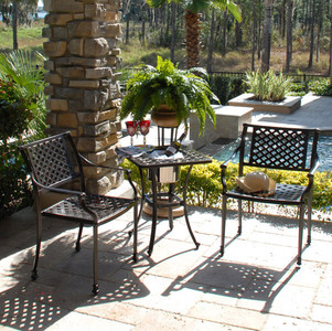 Savannah 3pc Bistro Set Outdoor Patio Furniture