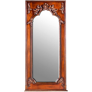 Maison Royale Grand Mirror Vintage Estate Mahogany