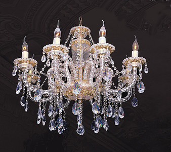 Fine Crystal and Gold Chandelier