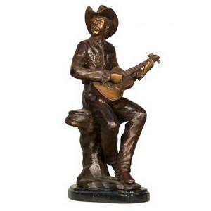 Cowboy w/Guitar - Marble Base