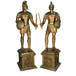 Pair-Roman Soldier w/Base -LF/RT
