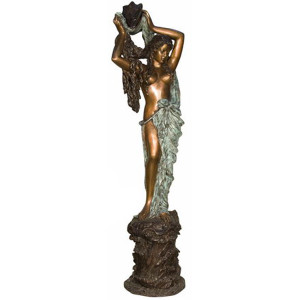 Lady Standing w/ Shell - Bronze Statue or Fountain