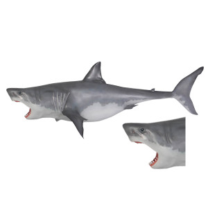 "49.25""H Great White Shark  Hanging  Fiberglass Novelty Collectable Decor"