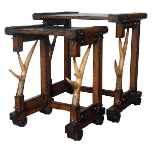 Rustic 2 Piece Nesting Tables Set